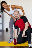 Couple at gym Stock Image