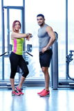 Couple at the gym Royalty Free Stock Image