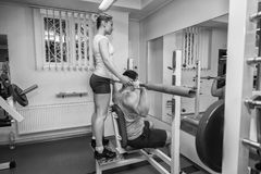 Couple at the gym. Stock Image