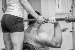 Couple at the gym. Stock Photo