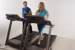 Couple at the Gym - Horizontal stock image