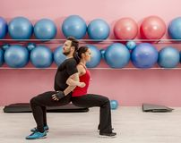 Couple in the Gym stock photos