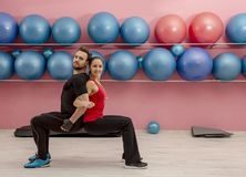 Couple in the Gym stock photo
