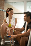 Couple in gym Royalty Free Stock Photography