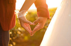Couple hand together Stock Photo