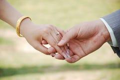 Couple hands Stock Photo