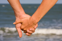 Couple hands Stock Image