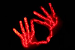 Couple of hands. Couple of glowing hands Royalty Free Stock Photo