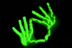 Couple of hands. Couple of glowing hands Royalty Free Stock Photography