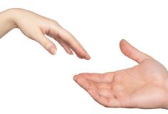 Couple hands Stock Images
