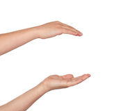 Couple of hands holding nothing Royalty Free Stock Image