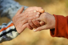 Couple of hands together Royalty Free Stock Photo
