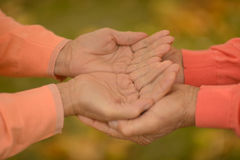 Couple of hands together Royalty Free Stock Photography