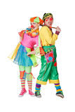 Couple of happy clowns Royalty Free Stock Photos