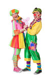 Couple of happy clowns Stock Image