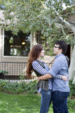 Couple happy in front of  new home Royalty Free Stock Photo