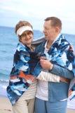 couple happy hugging retired Στοκ εικόνα με δικαίωμα ελεύθερης χρήσης