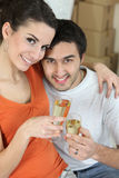 Couple happy in new home Royalty Free Stock Images