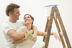 couple happy painting Στοκ εικόνες με δικαίωμα ελεύθερης χρήσης
