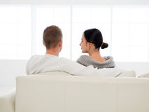 Couple happy with purchase of new house Royalty Free Stock Photography