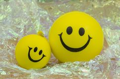 Couple of happy smileys Stock Image