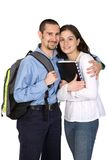 Couple of happy students Royalty Free Stock Images