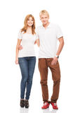 Couple of happy teenagers Royalty Free Stock Photography