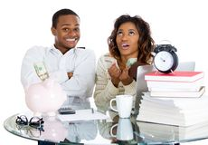 Couple happy at their savings Stock Photography