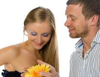 Couple of happy young adults Stock Image