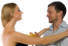 Couple of happy young adults Royalty Free Stock Photos