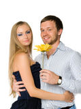 Couple of happy young adults Stock Photography