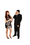 Couple has argument. stock images