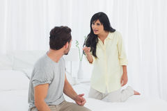 Couple has big dispute Stock Photo