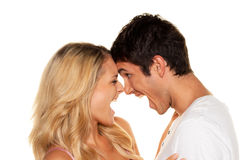 Couple has fun. Love, Royalty Free Stock Images