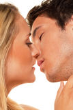 Couple has fun. Love, eroticism and tenderness Stock Images