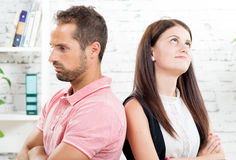 A  couple has problems. A young couple has problems Stock Image