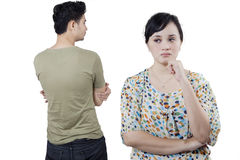 Couple hate each other after quarreling Stock Image