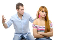 Couple have an argument because of relationship crisis Royalty Free Stock Photos