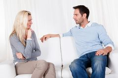 Couple have fallen out over a disagreement Stock Photo