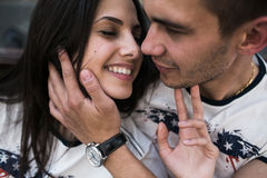 Couple have fun in the city Stock Photography