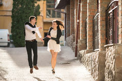 Couple haveing fun Royalty Free Stock Photo