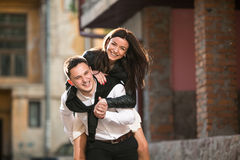 Couple haveing fun Royalty Free Stock Photography