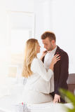 Couple having an affair at work. Shot of a romantic couple having an affair at work Stock Images