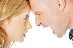 Couple having an argue Royalty Free Stock Photography