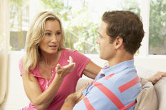 Couple Having Arguement At Home Royalty Free Stock Images