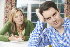 Couple Having Arguement At Home Stock Image