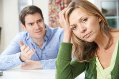 Couple Having Arguement At Home Royalty Free Stock Photography
