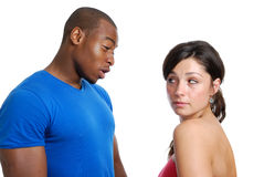 Couple having an argument Royalty Free Stock Image