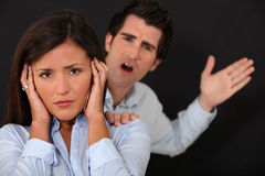 Couple having argument Stock Photography