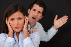 Couple having argument. Couple having a big argument stock photography